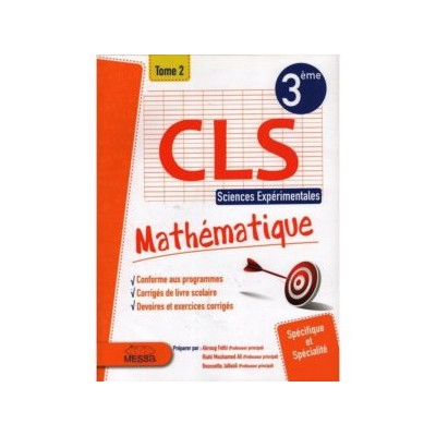 3 éme Sciences CLS TOM 2