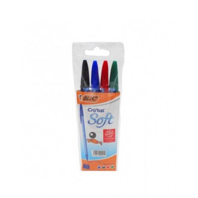 pack stylo BIC SOFT DE 4