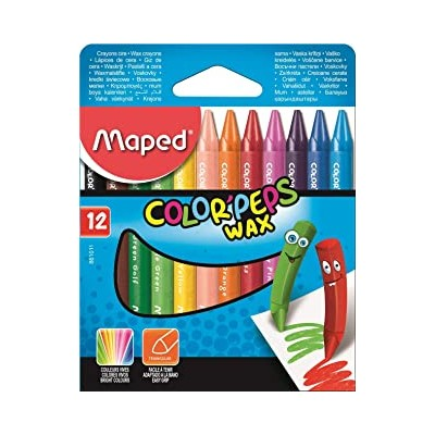 12 crayons à la cire wax