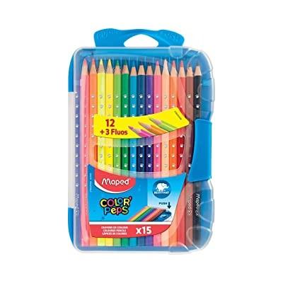 15 crayons de couleurs...
